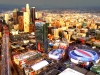 Downtown LA from helicopter at night