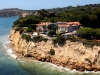 Celebrity Malibu coast house from helicopter
